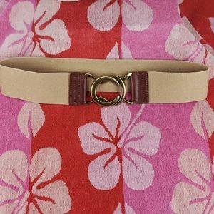 Lauren Ralph Lauren Tan Brass Clasp Belt